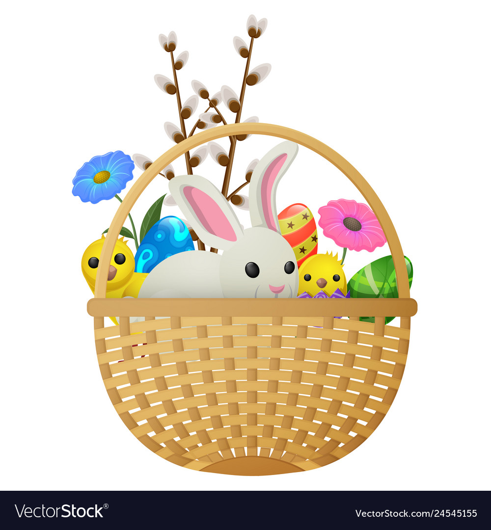 Easter animals flowers and eggs