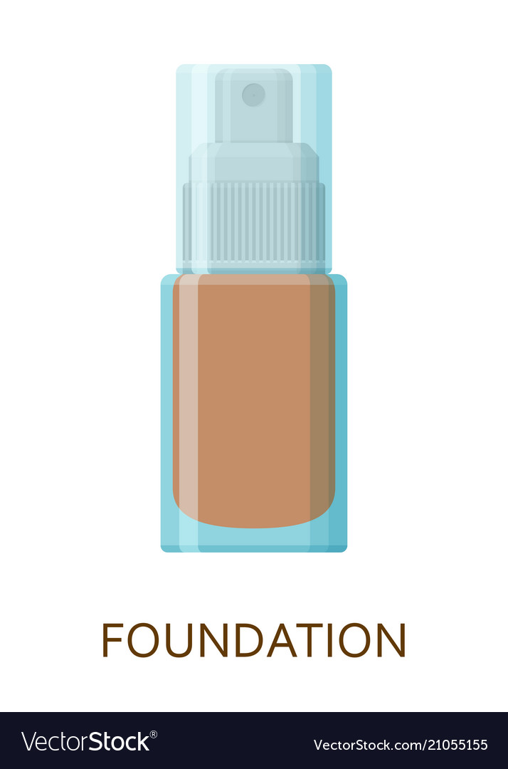 Foundation make up background cosmetic icons