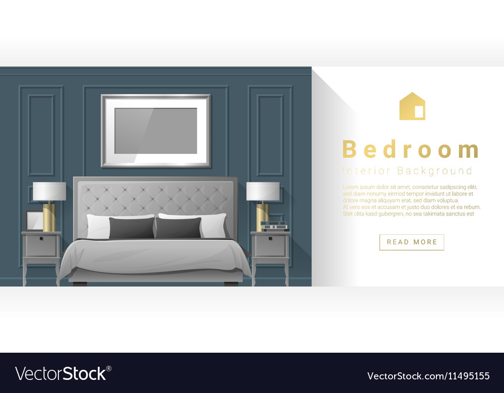 Interior Design Modern Bedroom Background 3 Vector Image