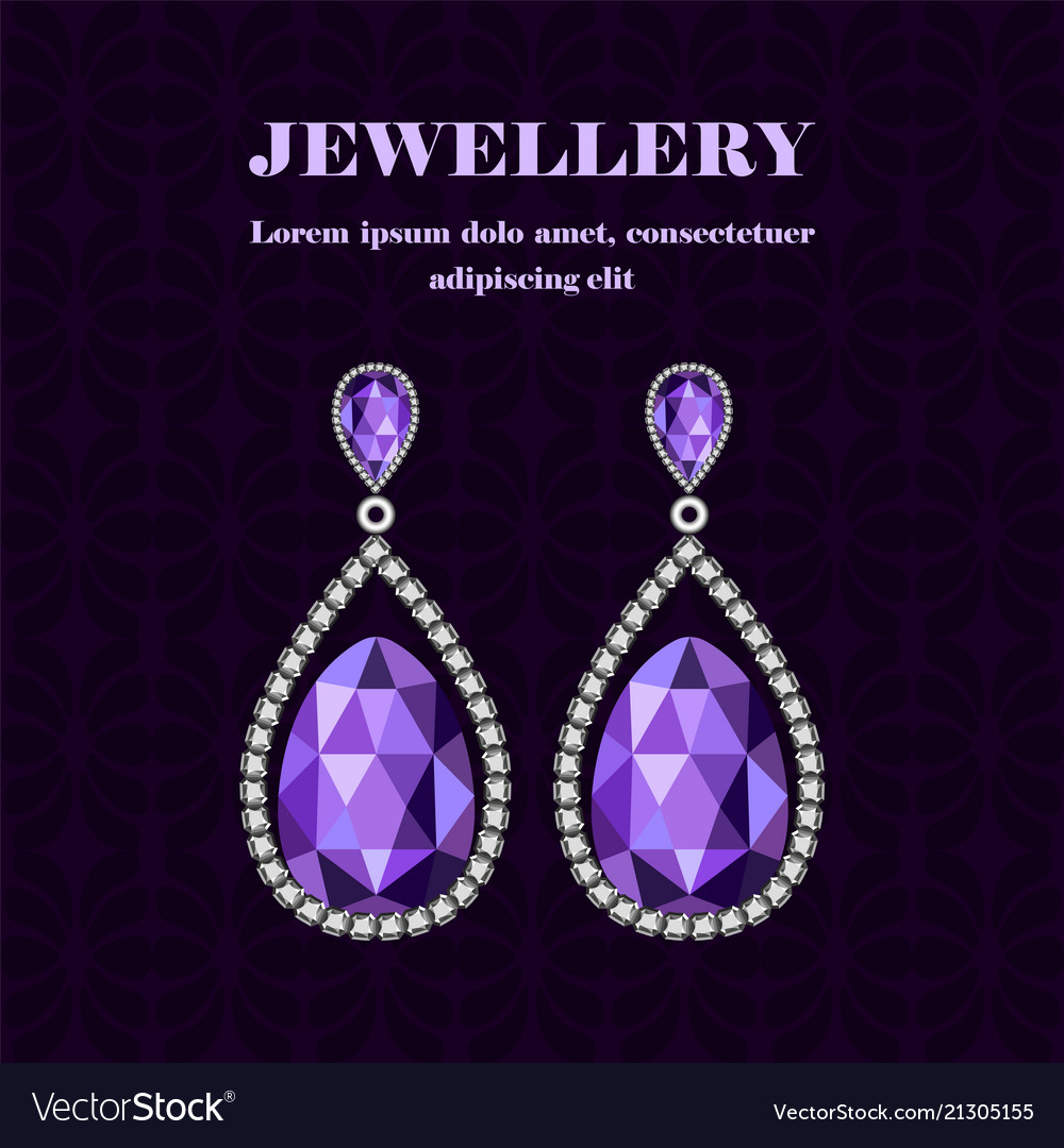 Jewellery gemstones concept background realistic