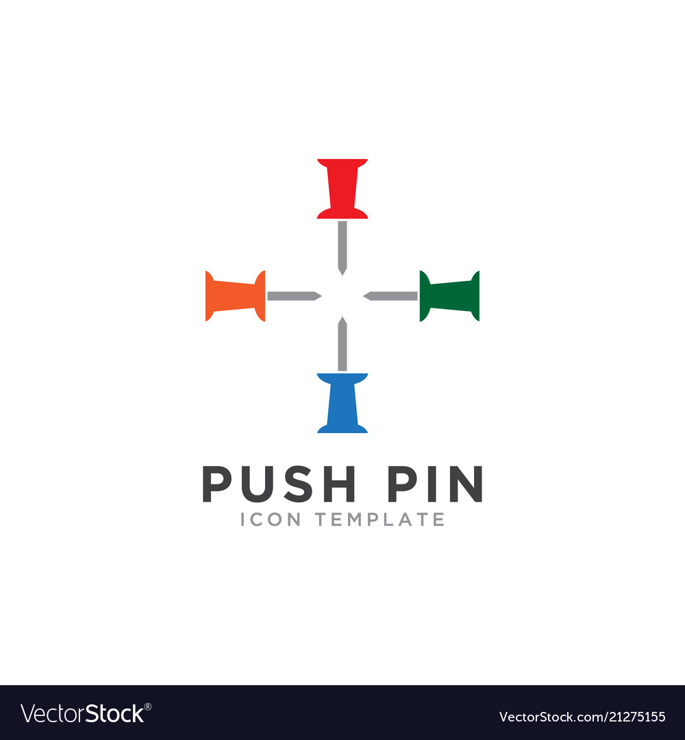 push pin outline vector images 85
