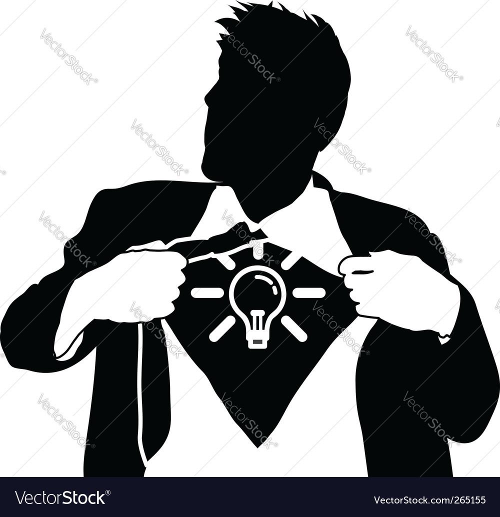Super idea man vector image