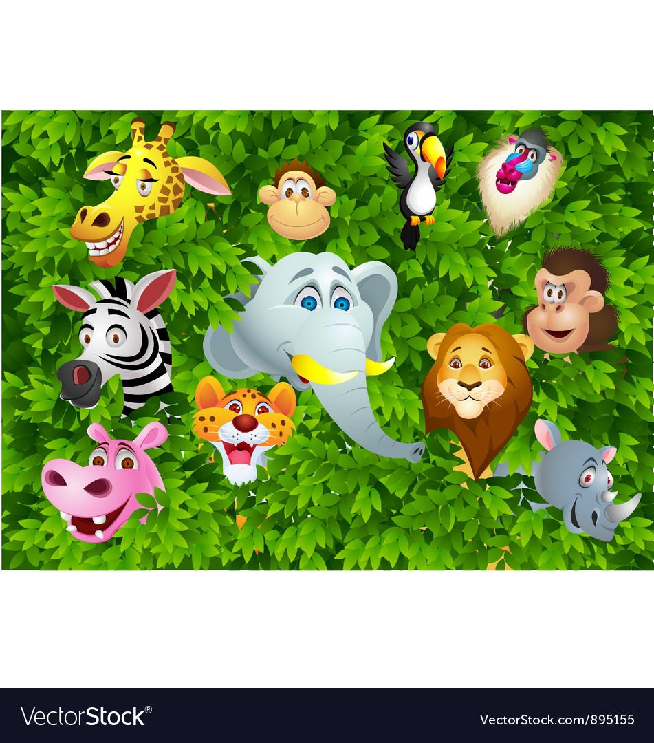 Wils animal cartoon vector image