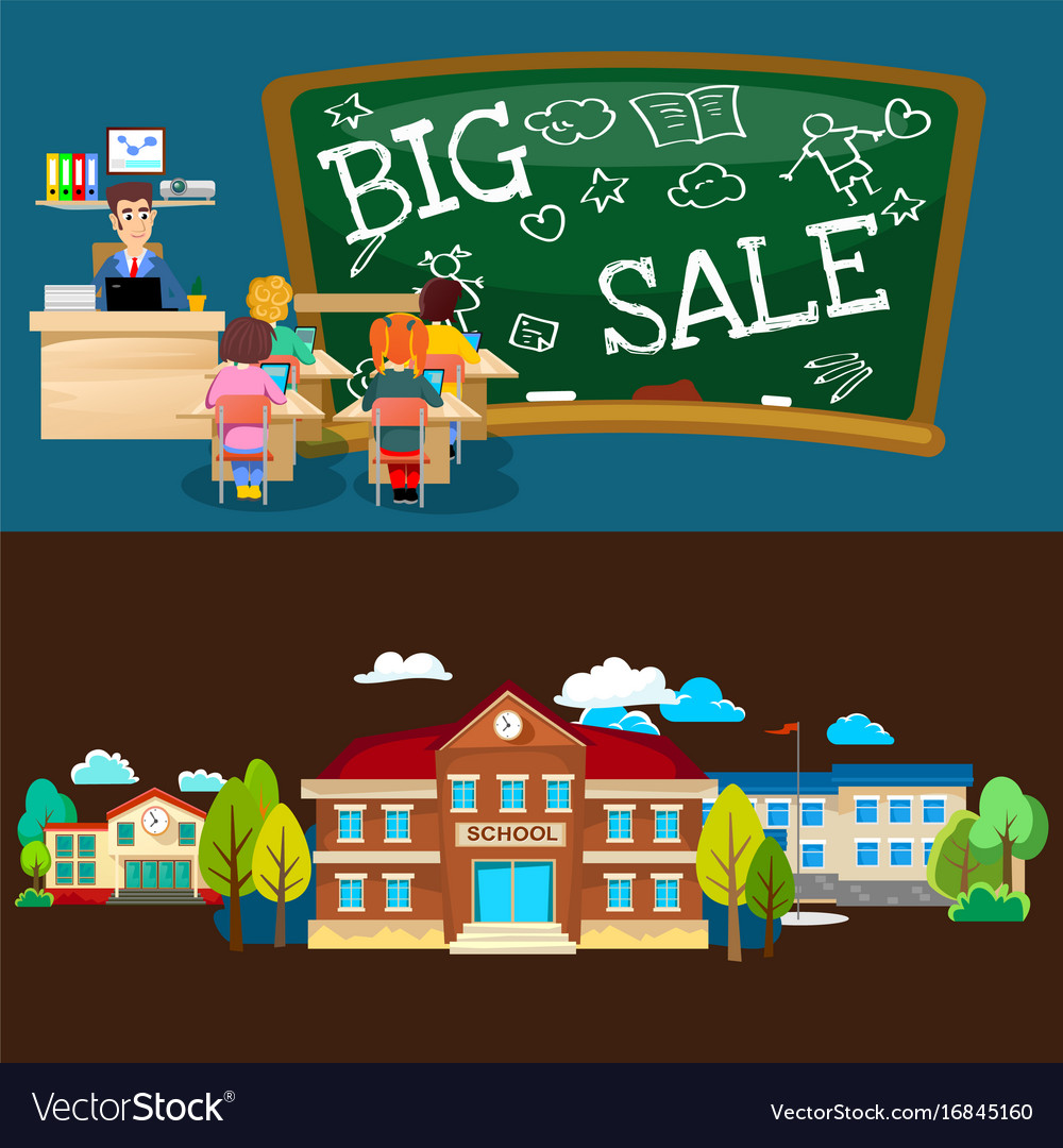 back to school set of pictographs childrens life vector image