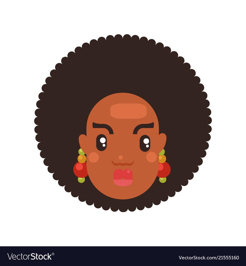 Black skin woman head