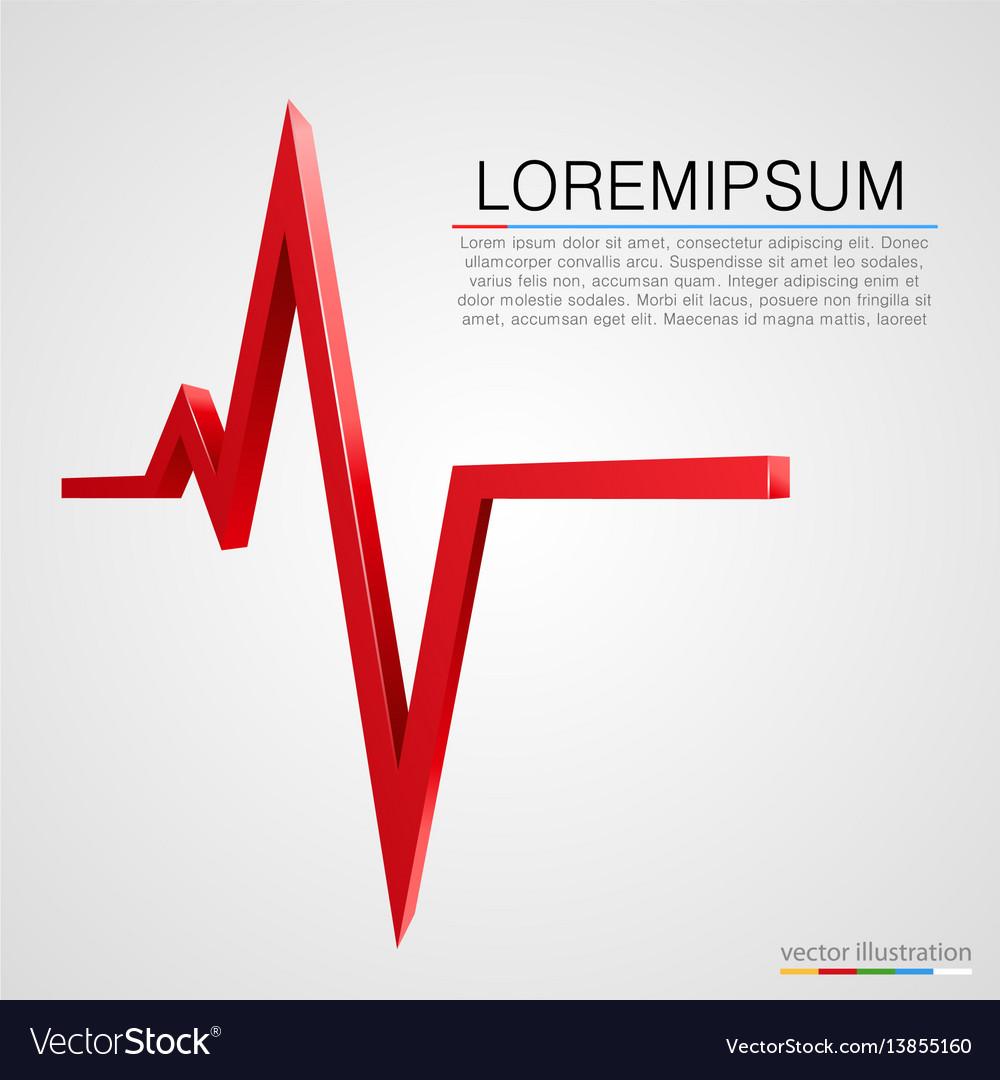 Cardiogram wave background medicine concept vector image