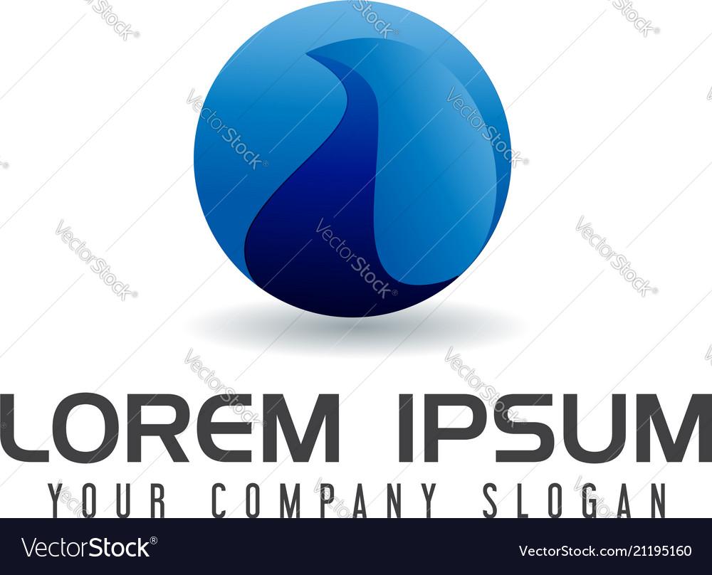 Internet globe logo design concept template