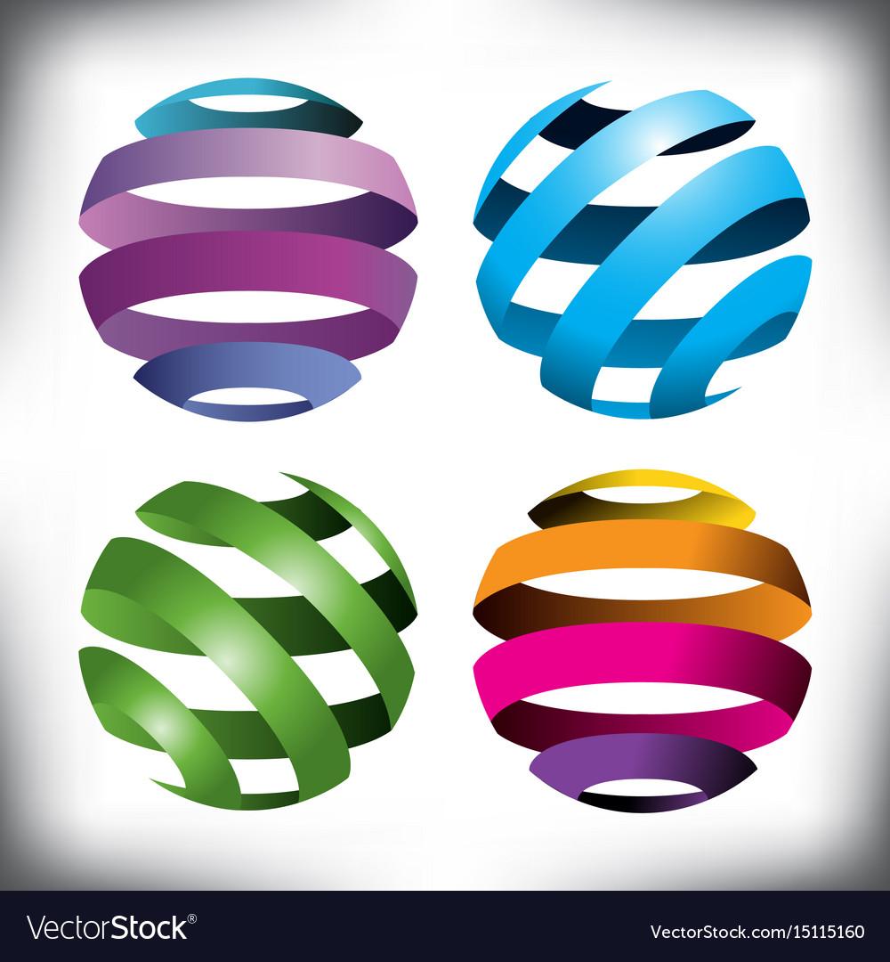 Spheres globes vector image