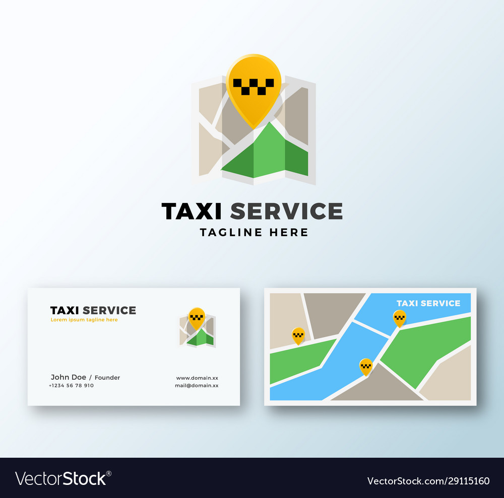 Taxi service point abstract app icon or