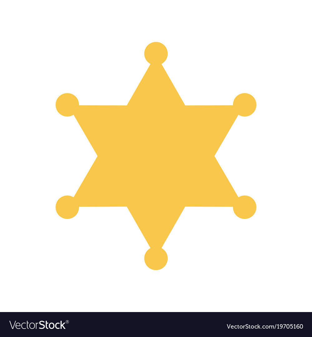 yellow sheriff star royalty free vector image vectorstock rh vectorstock com county sheriff badge vector florida sheriff badge vector
