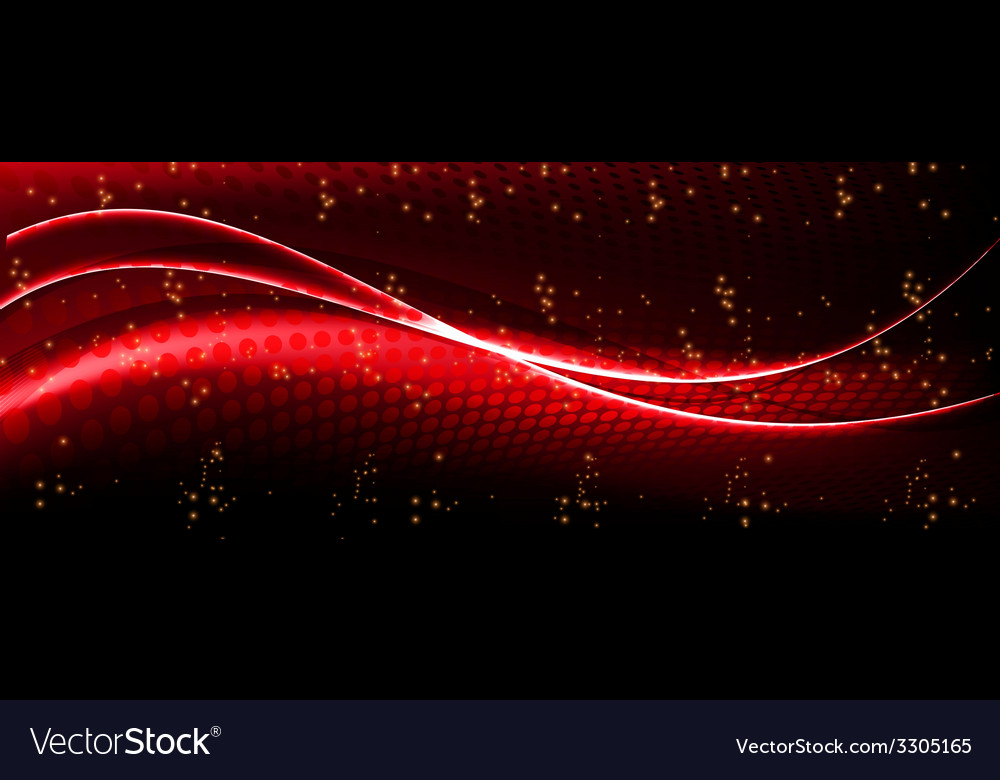 Abstract Wave Red Background