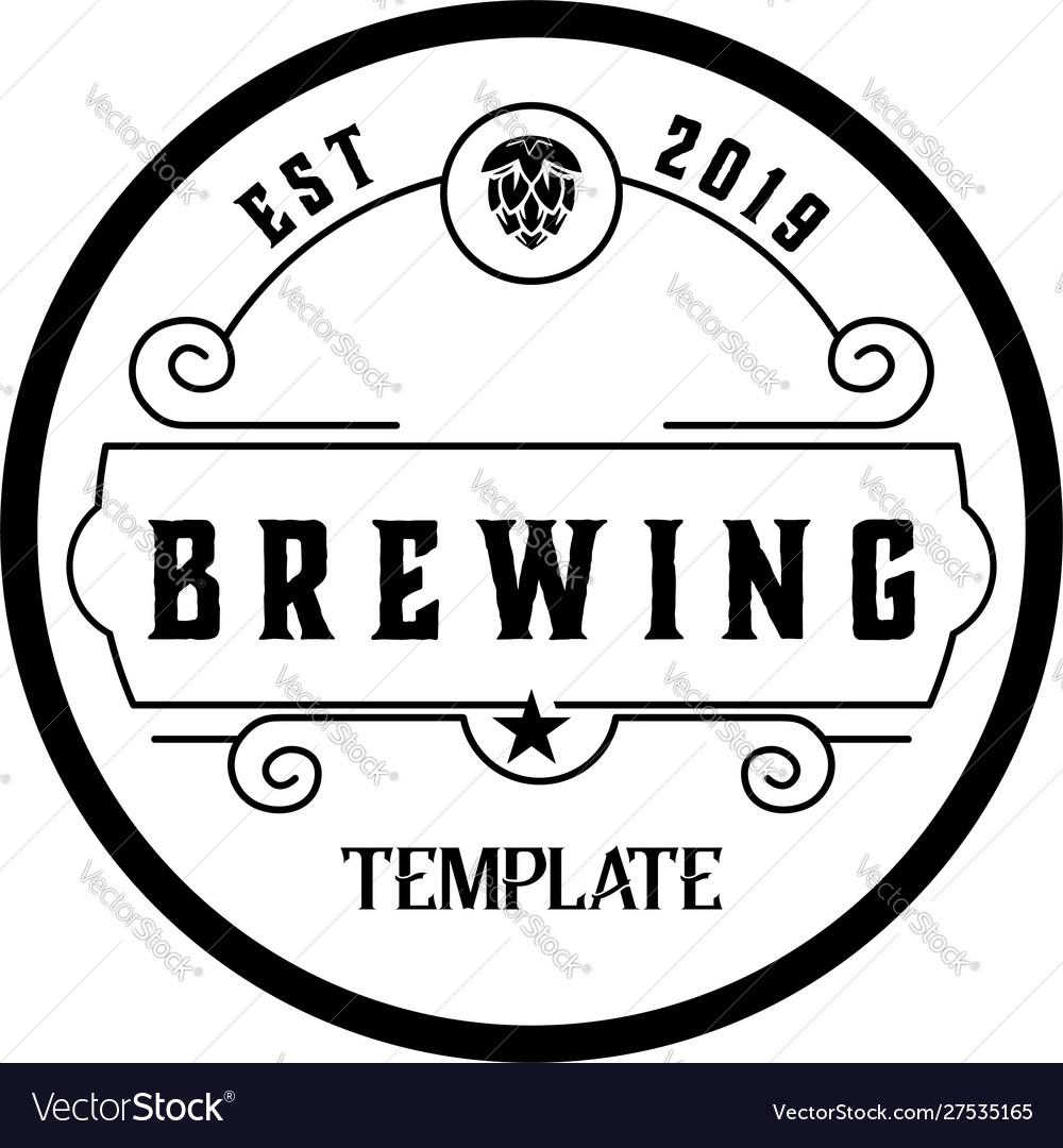 Brewery hand written lettering logo label