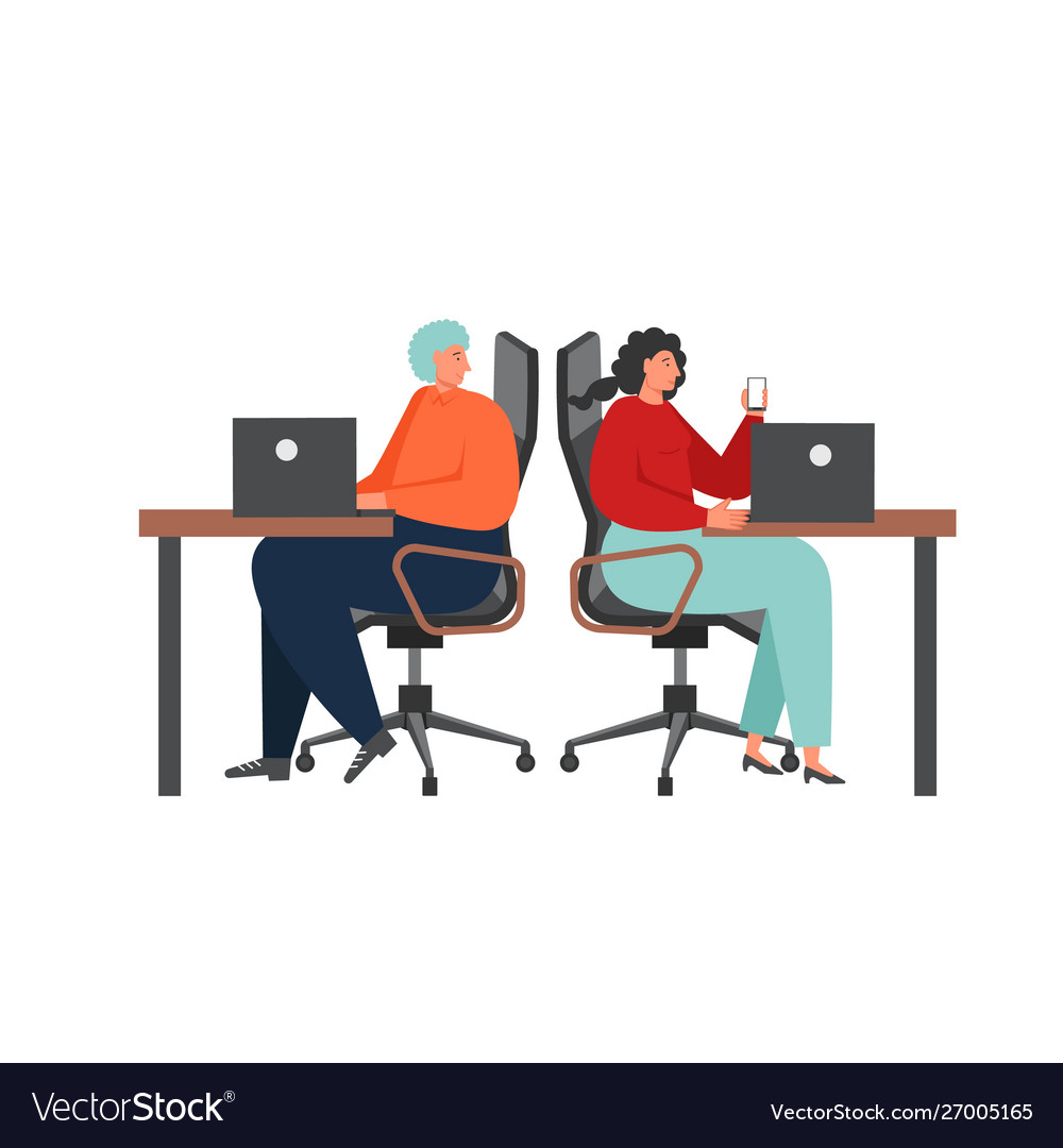 Business team characters flat isolated