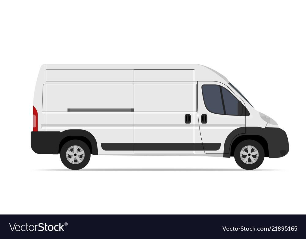 cargo van mini bus template for mockup royalty free vector