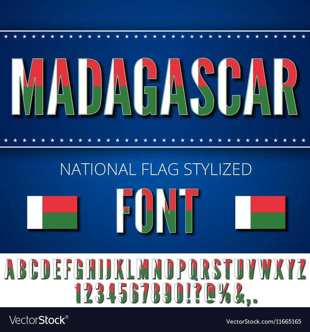 Madagascar Flag Font
