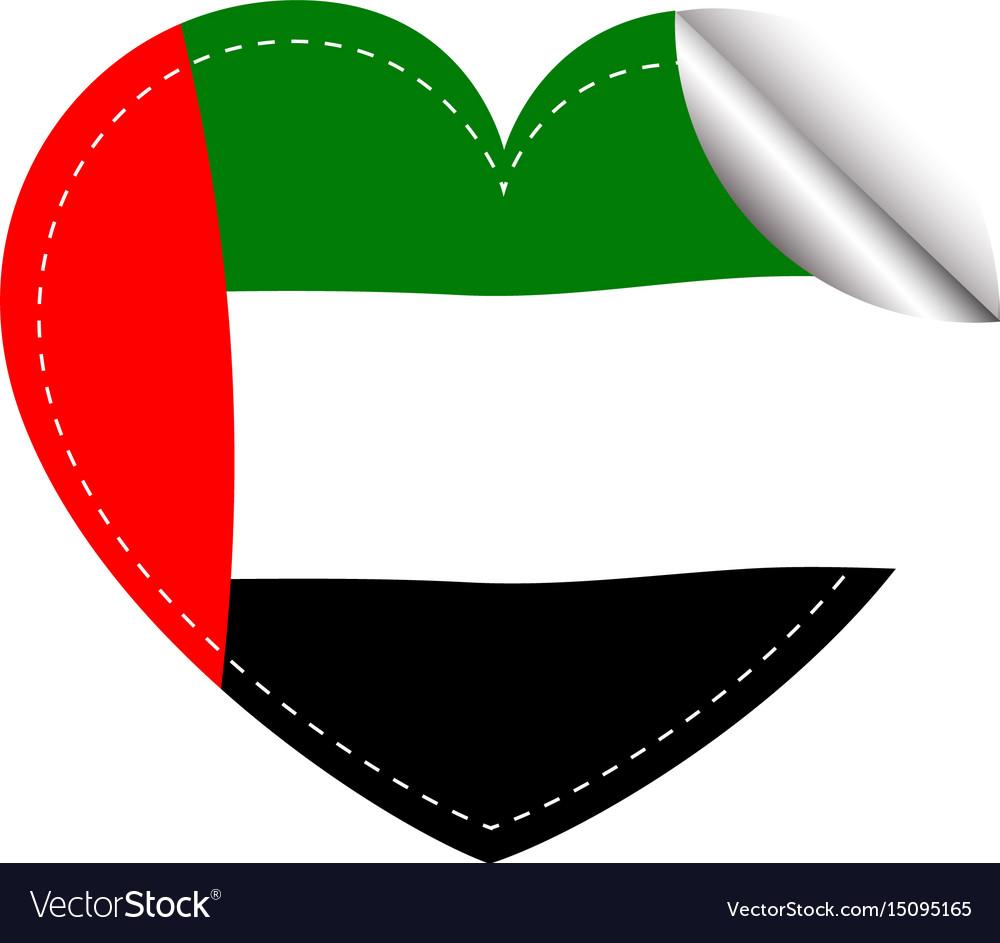 Sticker design for arab emirates flag vector image