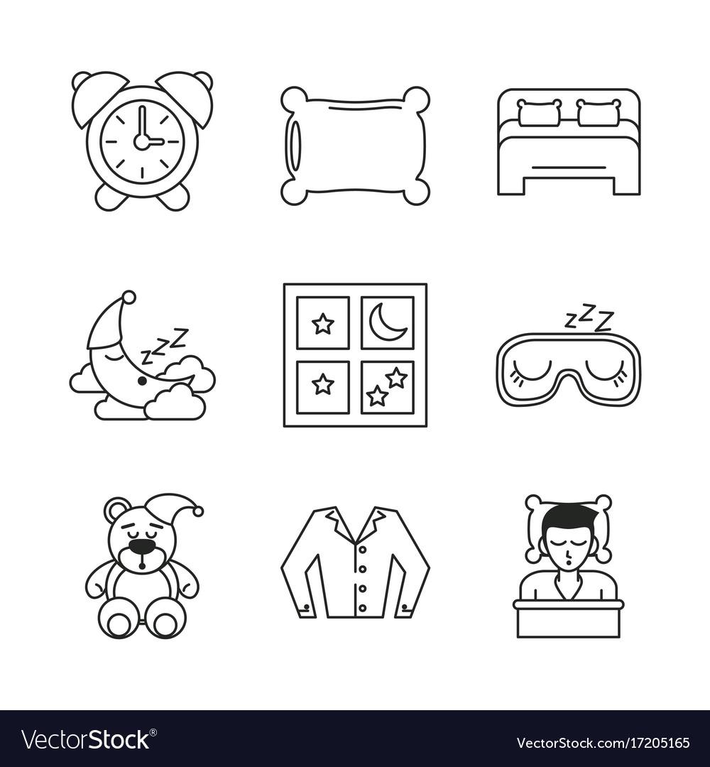 Sweet sleep icons