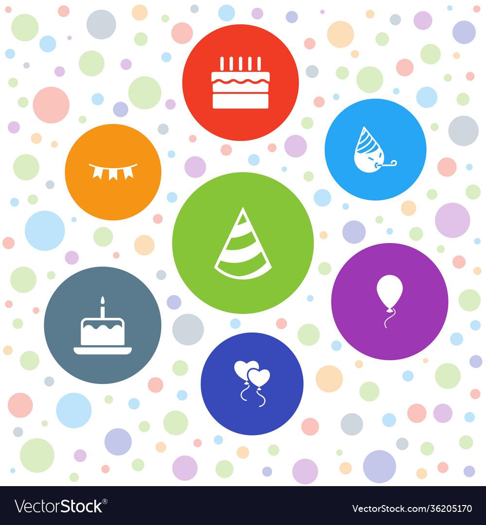 7 birthday icons