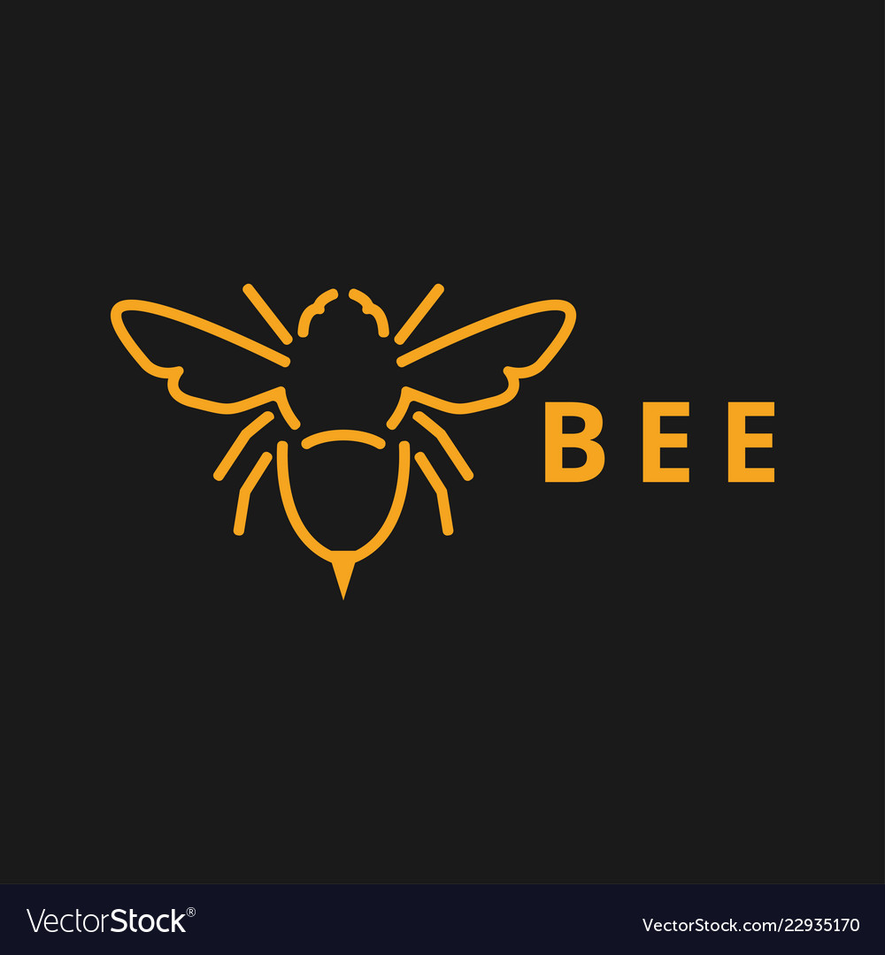 Bee outline graphic design template