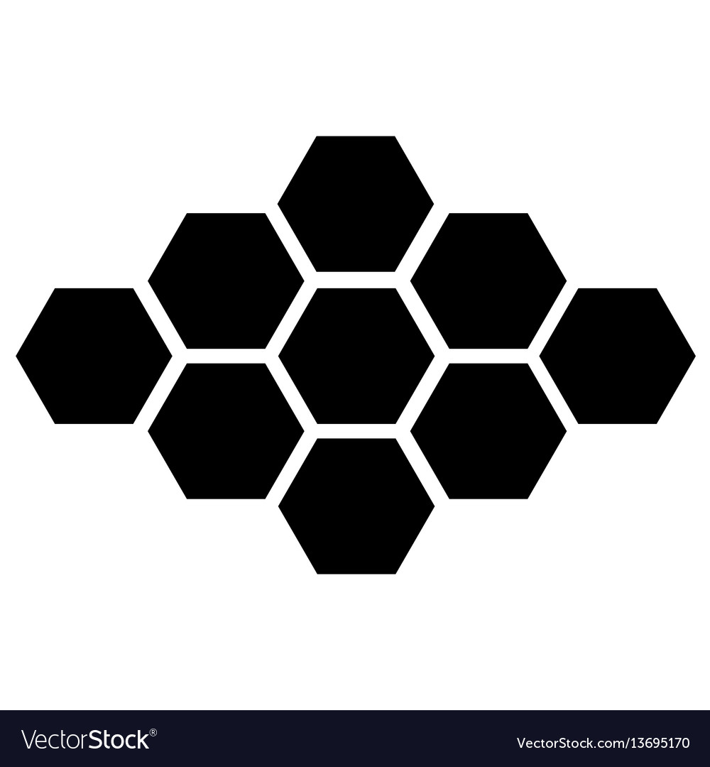 Black hexagon icon on white background eps