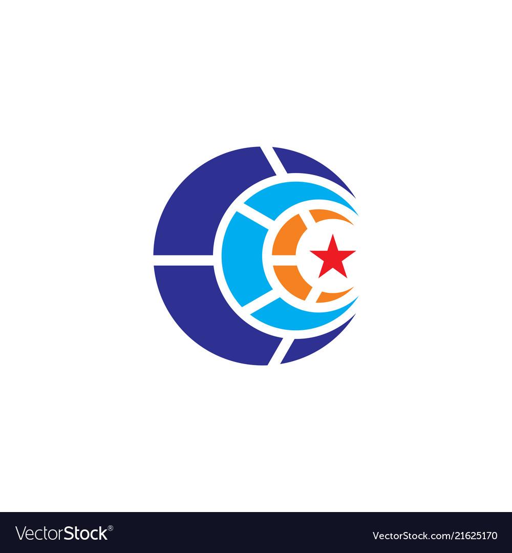 Circle star business logo