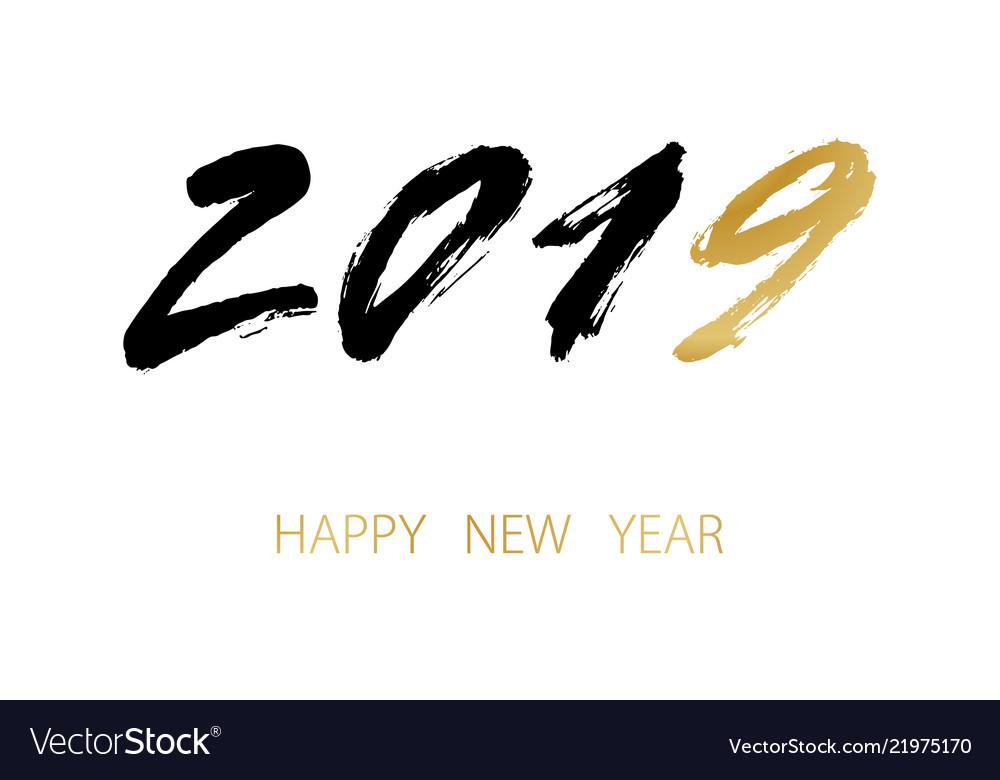 Greeting card design template 2019