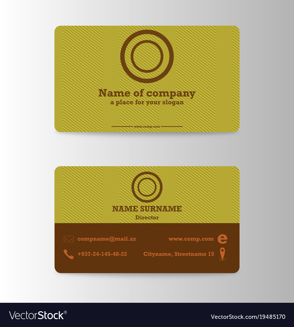 Modern business card print templates personal vector image colourmoves