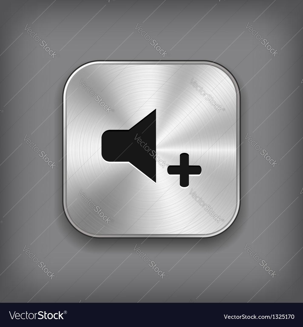 Speaker volume louder icon - metal app butt