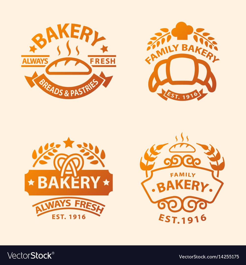 Bakery gold badge icon fashion modern style wheat