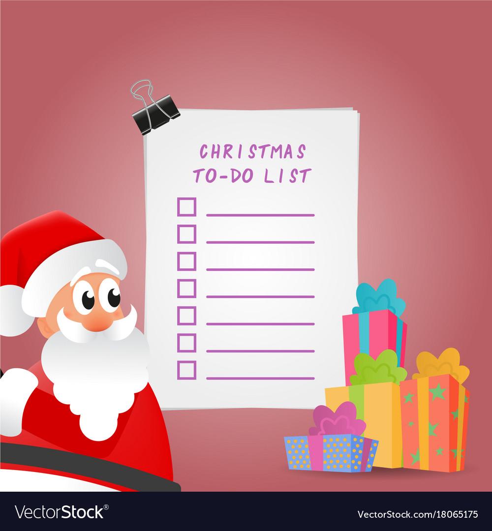beautiful christmas to do list vector image