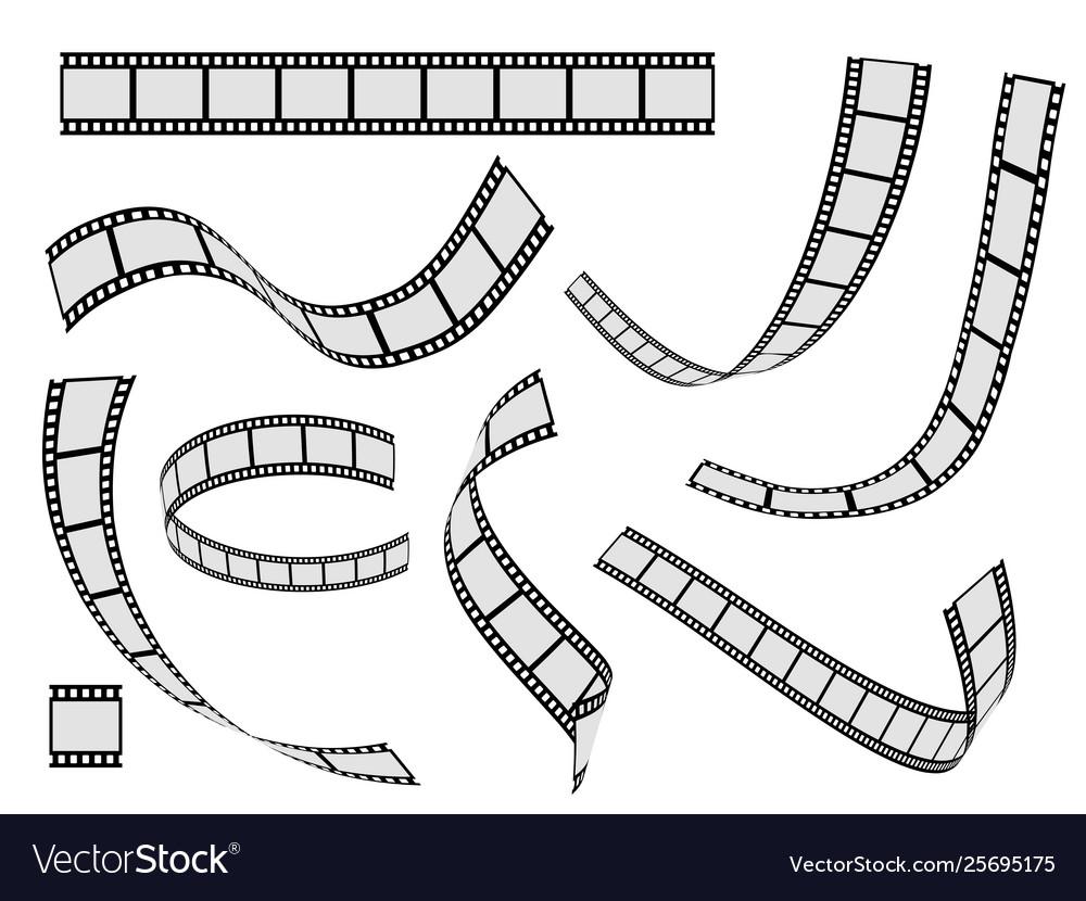 Film strip set cinema strip roll 35mm blank slide