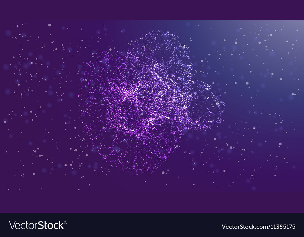 Futuristic abstract glowing vector image