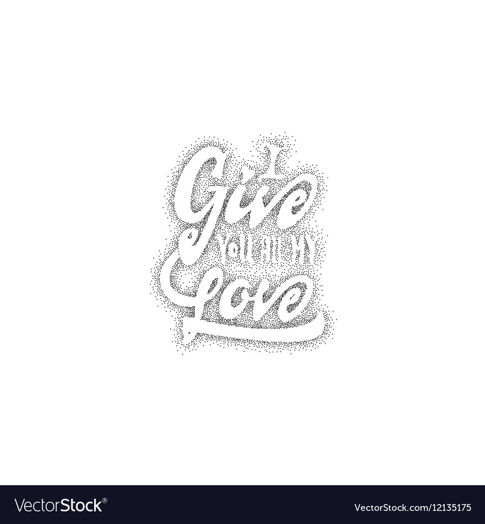 I give you all my love Hand-lettering text