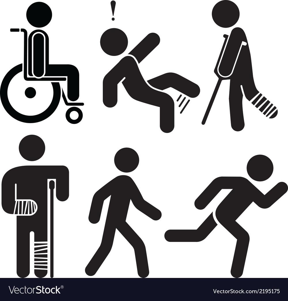 Injured Stick Figures vector image