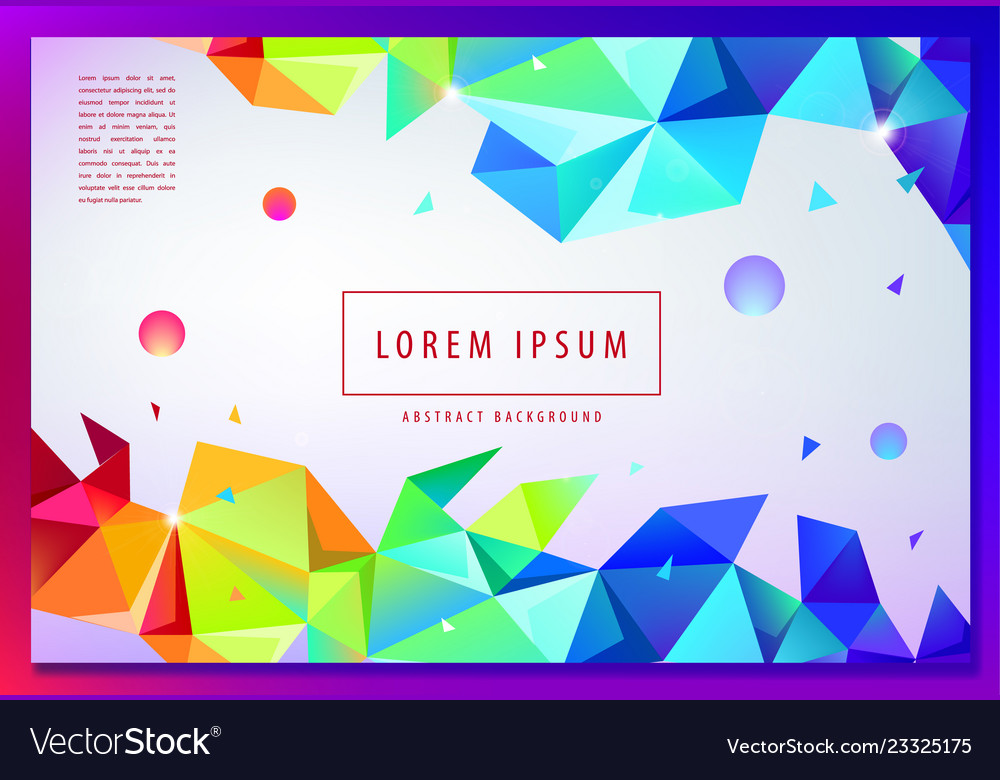 Landing page concept geometric abstract