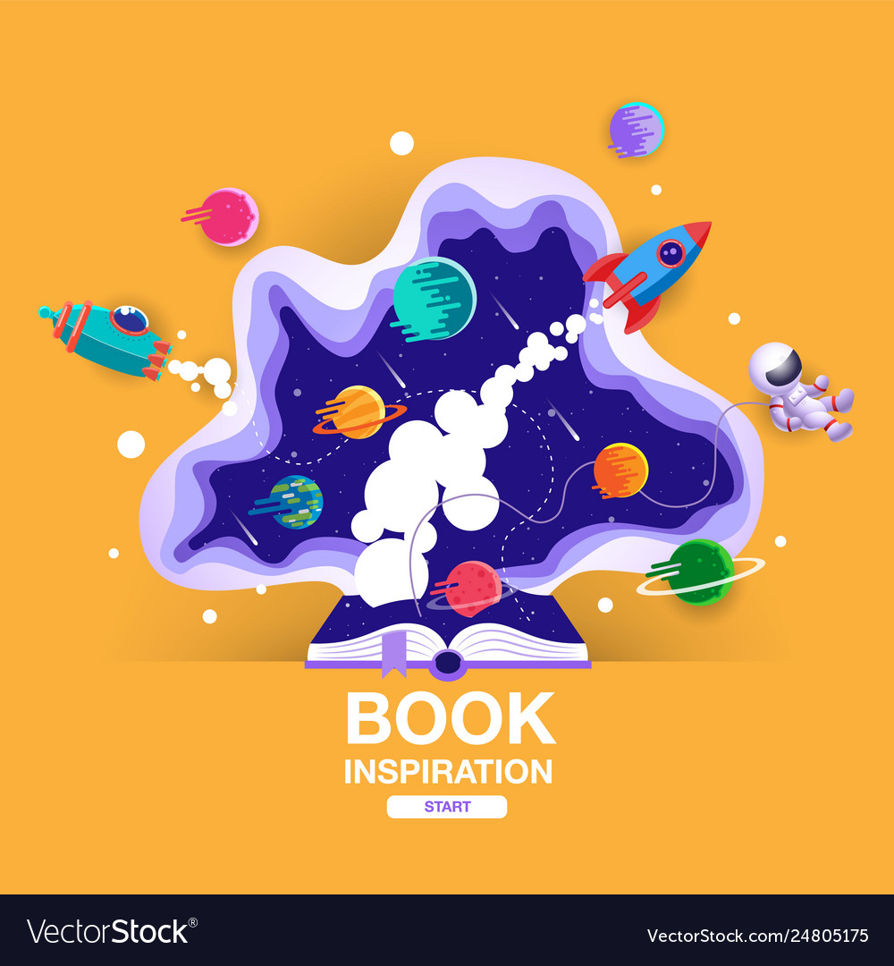 Open book space background school reading and