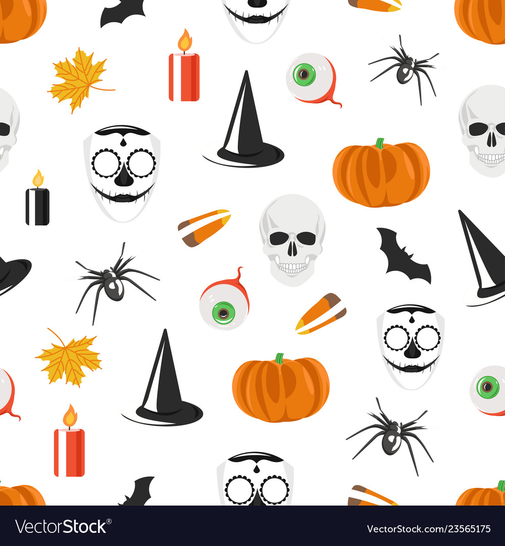 Seamless pattern with halloween holiday