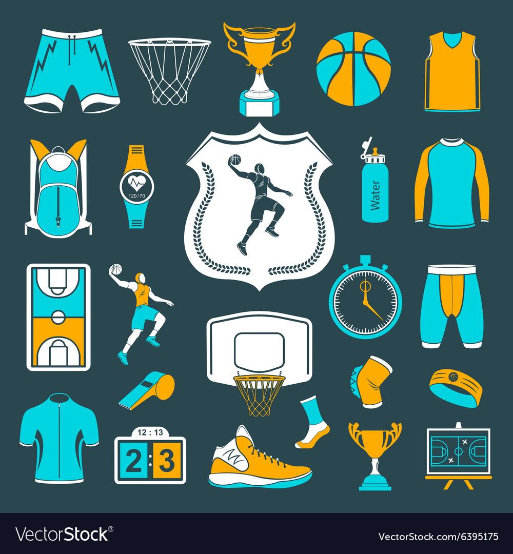 Set of icons basketball