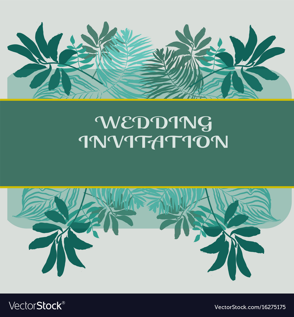Wedding invitation or card design with exotic