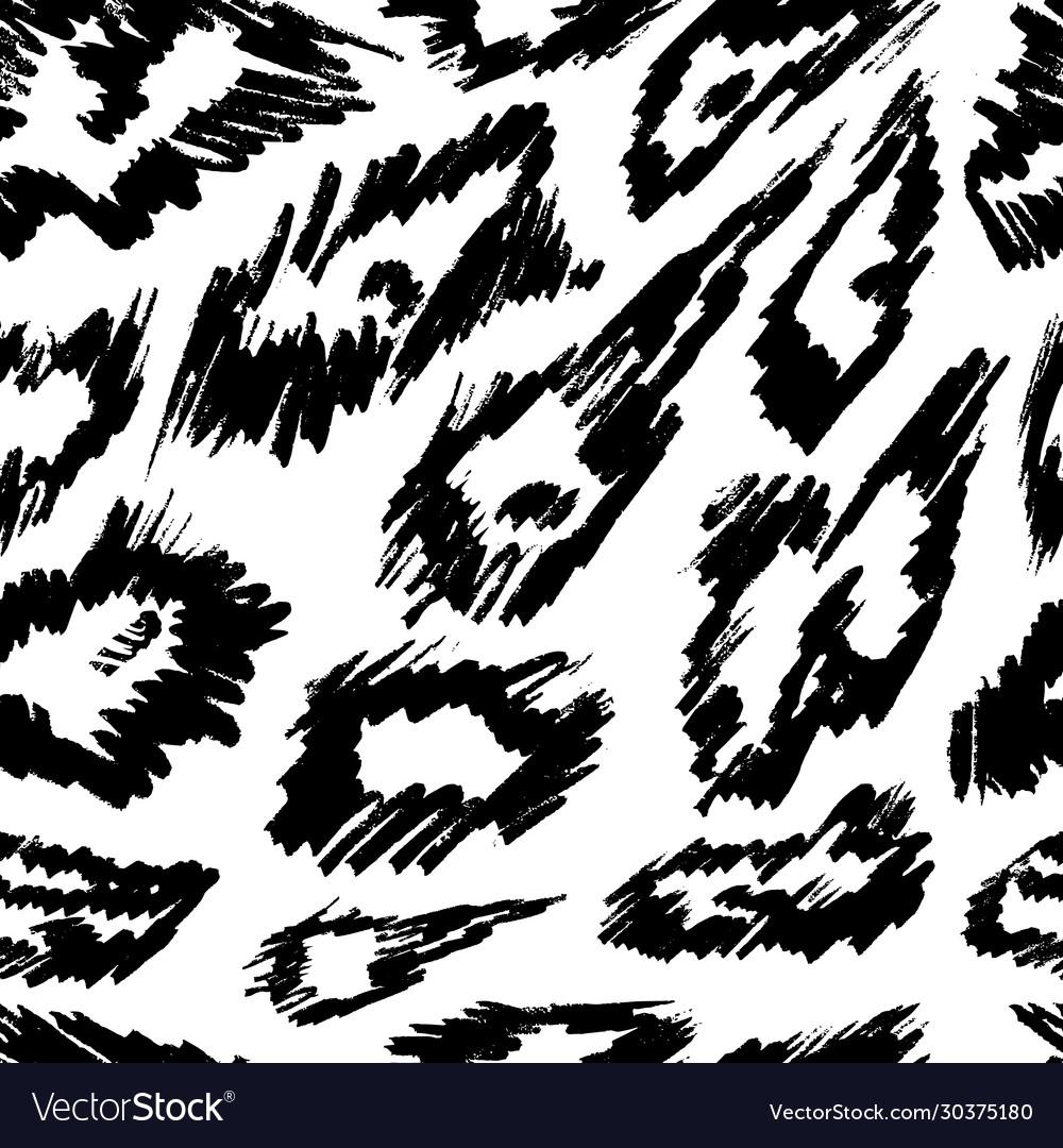 Animal seamless pattern mammals fur print skin