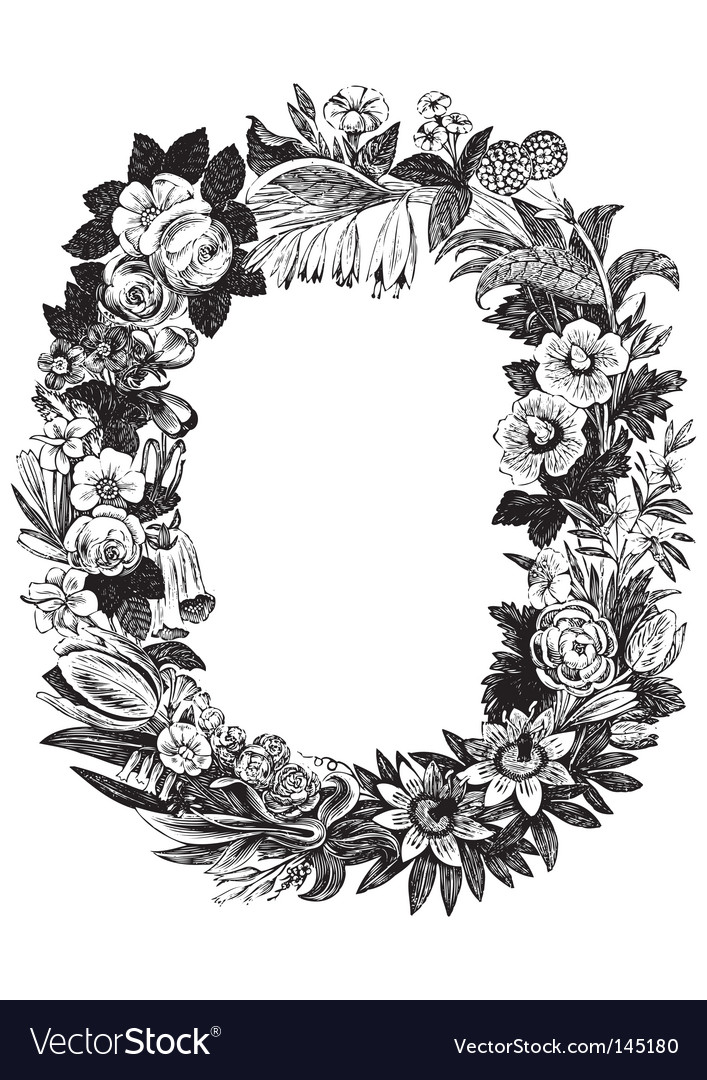 Antique flower frame