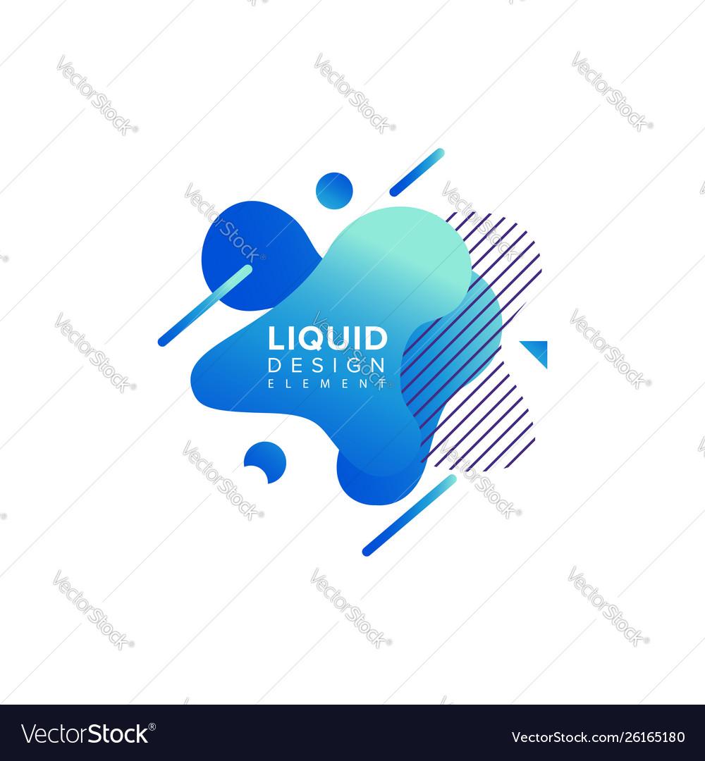 Color abstract liquid shape fluid color overlap