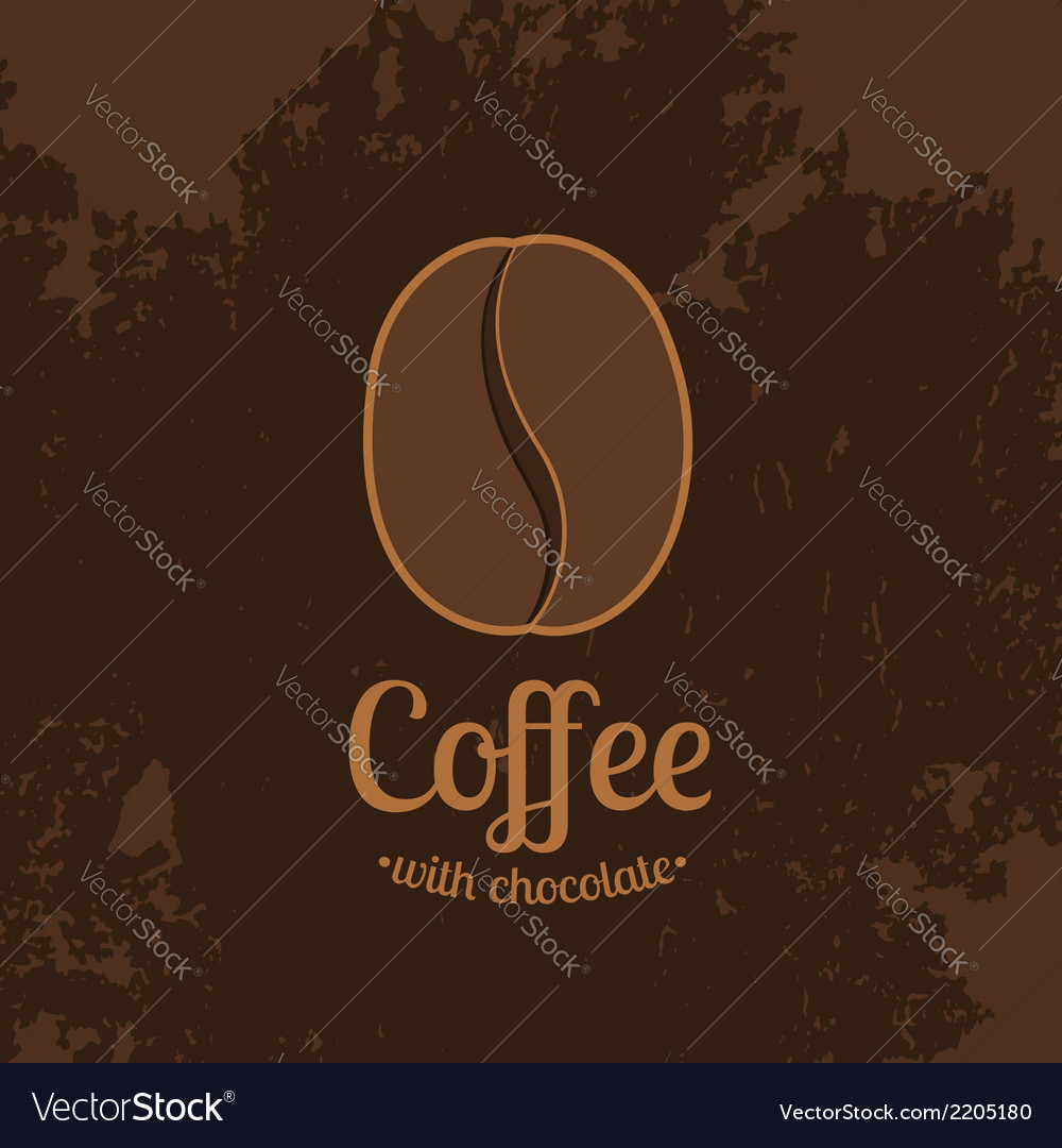 Dark Textured Background with Coffee Bean
