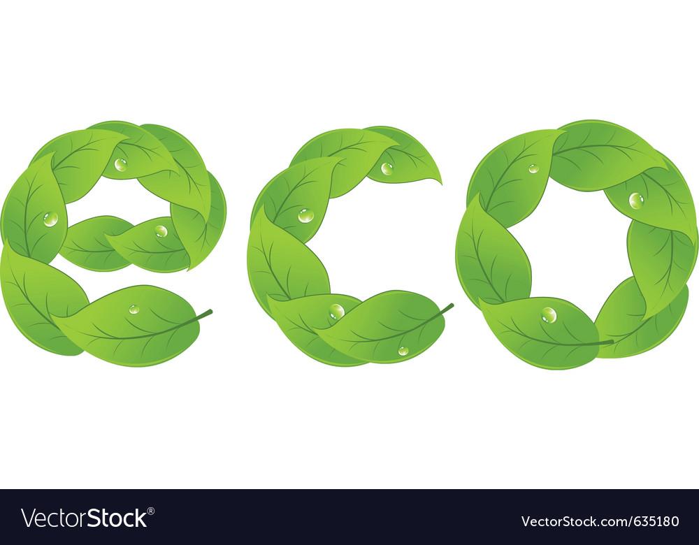 Eco design element vector image