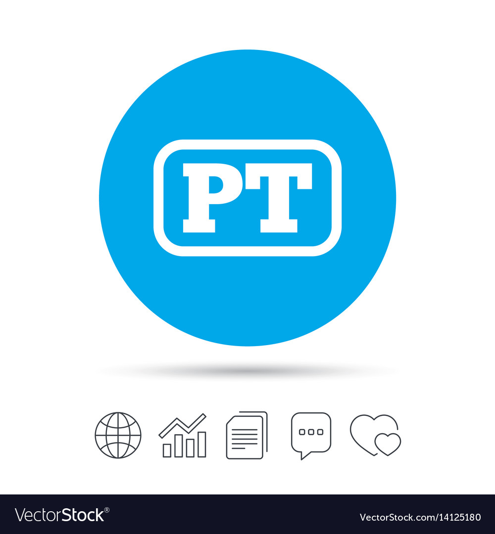 Portuguese language sign icon pt translation
