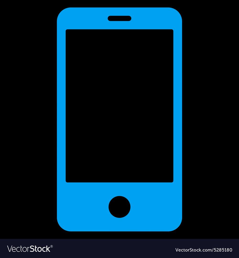 Smartphone flat blue color icon