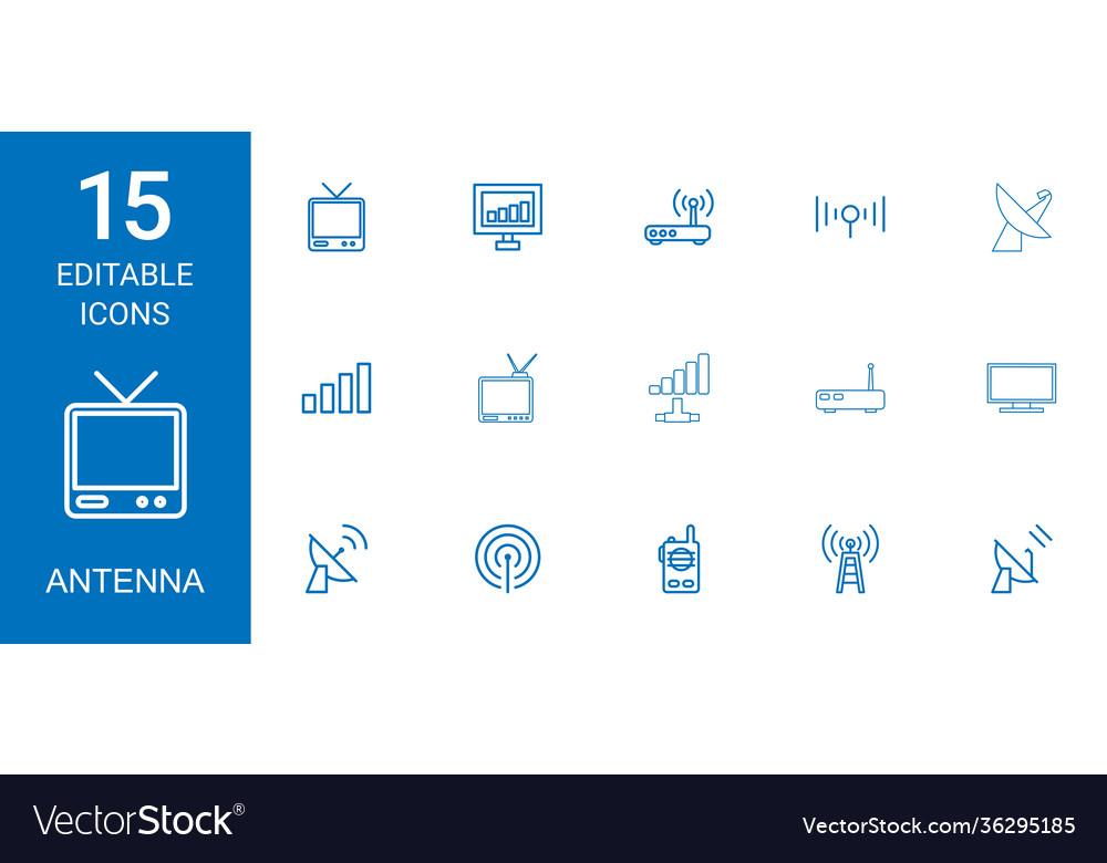 15 antenna icons
