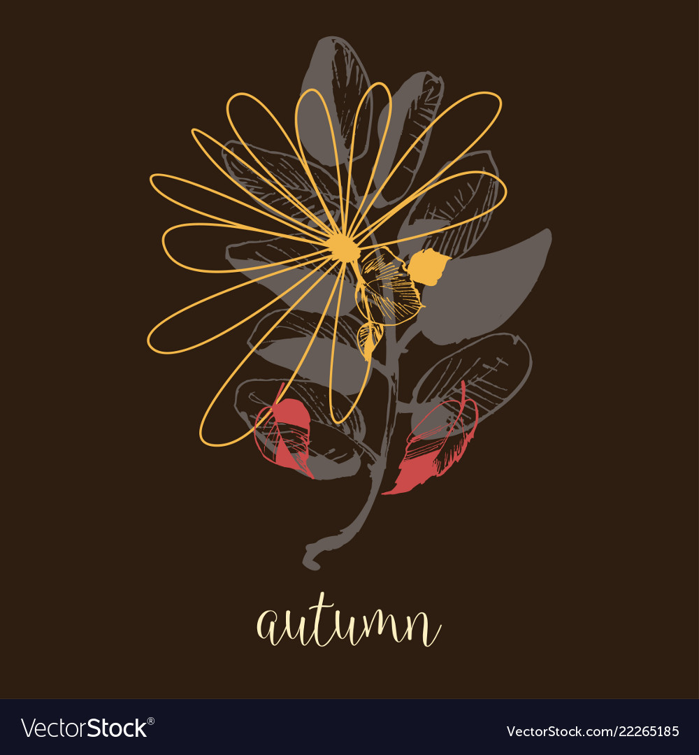 Autumn artistic banner dry leaves fall background