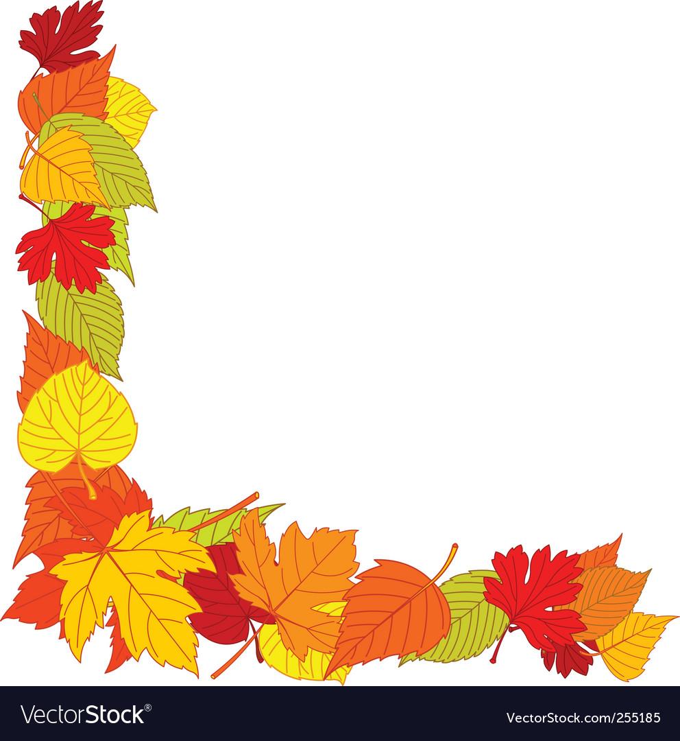 Autumn Leaves Border Vector By Dazdraperma Image 255185
