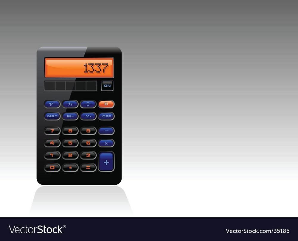 Black calculator